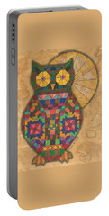 Quilted Owl Portable Battery Charger