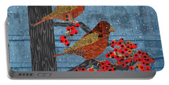 Sagebrush Sparrow Short Portable Battery Charger by Kim Prowse