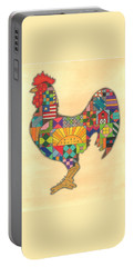 Quilted Rooster Portable Battery Charger