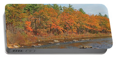 Quinapoxet River In Autumn Portable Battery Charger