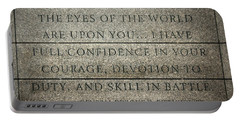Quote Of Eisenhower In Normandy American Cemetery And Memorial Portable Battery Charger