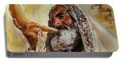 Rabbi Blowing Shofar Portable Battery Charger