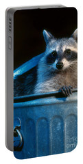 Raccoon In Garbage Can Portable Battery Charger