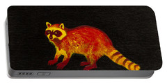 Raccoon Portable Battery Charger by Stefanie Forck