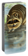 Raccoon Portable Battery Charger by Veronica Minozzi