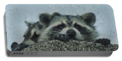Raccoons Painterly Portable Battery Charger