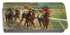 Race Horses Portable Battery Charger