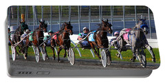 Portable Battery Charger featuring the photograph Race To The Finish by Davandra Cribbie