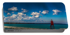 Racine Harbor Lighthouse Portable Battery Charger