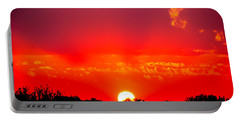 Portable Battery Charger featuring the photograph Radiant Sunset by Dee Dee  Whittle