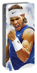 Rafael Nadal Artwork Portable Battery Charger