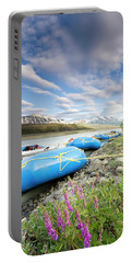 Rafts And Wildflowers Along The Alsek Portable Battery Charger