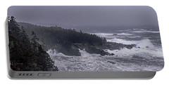 Raging Fury At Quoddy Portable Battery Charger by Marty Saccone