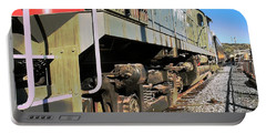 Portable Battery Charger featuring the photograph Rail Truck by Michael Gordon