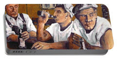 Railroad Men At The Bar By Prankearts Portable Battery Charger