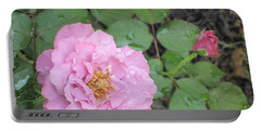 Rain Kissed Rose Portable Battery Charger