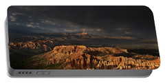 Portable Battery Charger featuring the photograph Rainbow And Thunderstorm Over The Paunsaugunt Plateau  by Dave Welling