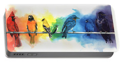 Rainbow Birds Portable Battery Charger