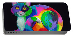 Rainbow Calico Portable Battery Charger