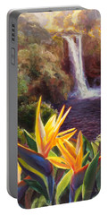 Rainbow Falls Big Island Hawaii Waterfall  Portable Battery Charger
