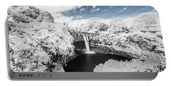 Rainbow Falls In Infrared 3 Portable Battery Charger