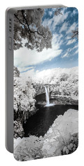 Rainbow Falls In Infrared 4 Portable Battery Charger