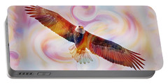 Rainbow Flying Eagle Watercolor Painting Portable Battery Charger