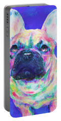 Rainbow French Bulldog Portable Battery Charger by Jane Schnetlage