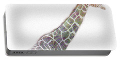 Rainbow Giraffe  Portable Battery Charger by Cindy Angiel