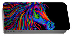 Rainbow Horse Head Portable Battery Charger