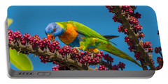 Rainbow Lorikeet Feeding On Queensland Portable Battery Charger