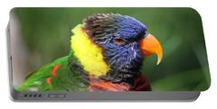 Rainbow Lorikeet Portrait Portable Battery Charger