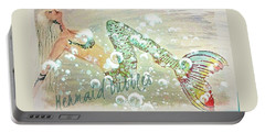 Rainbow Mermaid Bubbles Portable Battery Charger