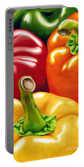Rainbow Of Peppers Portable Battery Charger