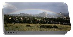 Rainbow Over Lake Estes Portable Battery Charger