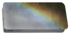 Portable Battery Charger featuring the photograph Rainbow Over The Falls by Laurel Powell