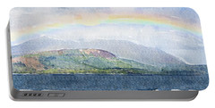 Rainbow Over The Isle Of Arran Portable Battery Charger