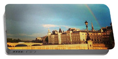 Rainbow Over The Seine. Portable Battery Charger