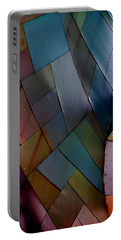 Rainbow Shingles Portable Battery Charger by Holly Blunkall