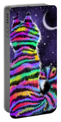 Rainbow Tiger Cat Portable Battery Charger