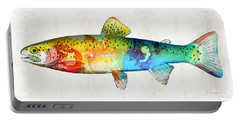 Rainbow Trout Art By Sharon Cummings Portable Battery Charger