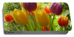 Rainbow Tulips  Portable Battery Charger