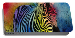 Rainbow Zebra Portable Battery Charger