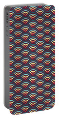 Rainbowaves Pattern Dark Portable Battery Charger by Freshinkstain