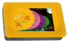Portable Battery Charger featuring the photograph New Orleans Rainbowellas by Michael Hoard