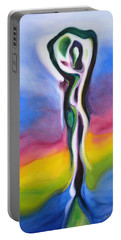 Rainbows Are Promises Portable Battery Charger by Susan Duda
