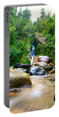 Portable Battery Charger featuring the photograph Rainforest Stream New Zealand by Amanda Stadther