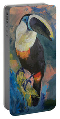 Rainforest Toucan Portable Battery Charger by Michael Creese