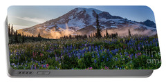 Rainier Wildflower Meadows Pano Portable Battery Charger
