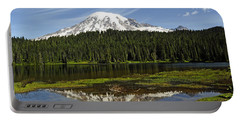 Portable Battery Charger featuring the photograph Rainier's Reflection by Tikvah's Hope
